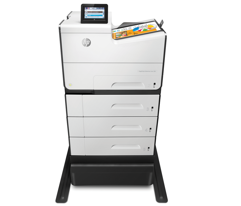 2 HP PageWide Enterprise Color 556dn Printer