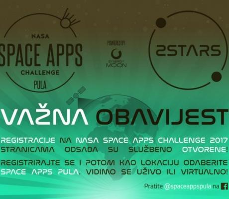 Otvorene prijave na pulski Space Apps Challenge