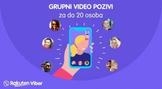Grupni video pozivi za 20 osoba na Viberu dostupni u Hrvatskoj