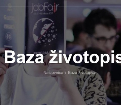 Otvorena baza životopisa na Job Fairu
